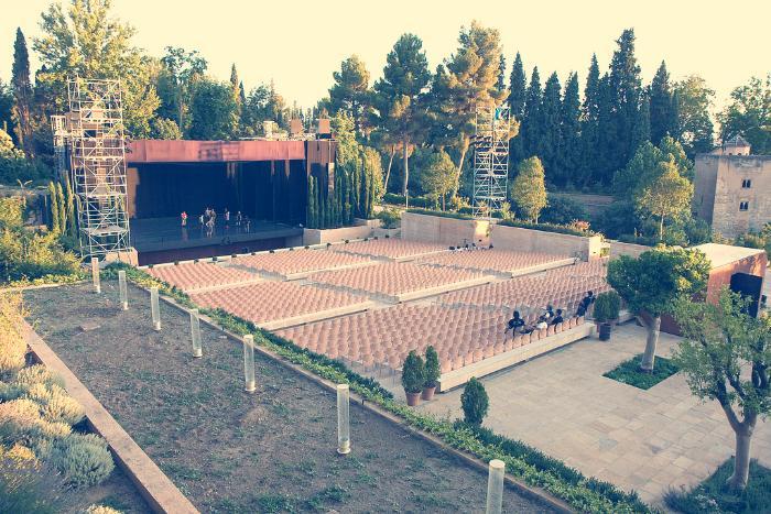 anfiteatro del generalife alhambra granada
