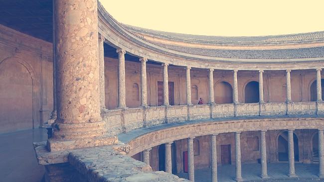 Desde la segunda planta del interior del Palacio